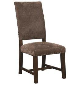 Coaster Parson Chair with Nailhead Trim--Warm Grey