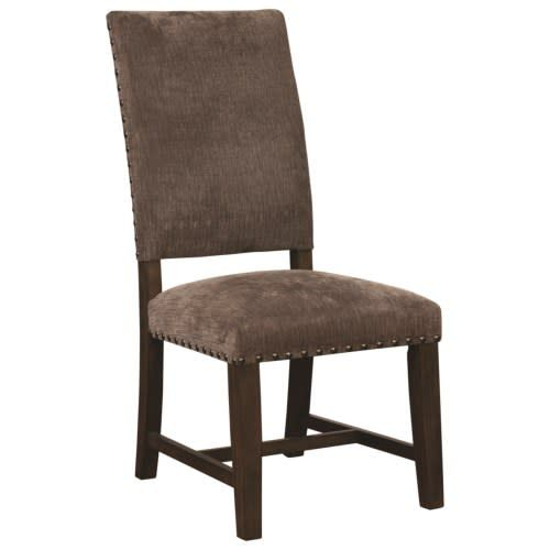 Exceptionnel Coaster Parson Chair With Nailhead Trim  Warm Grey
