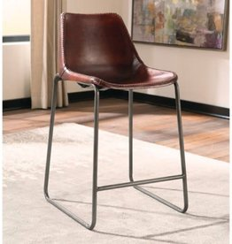 Coaster Antonelli Counter Stool with Natural Goat Leather
