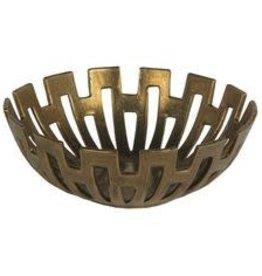 Privilege Large Gold Decorative Metal Bowl