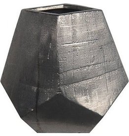 Privilege Silver Geometric Vase--Medium