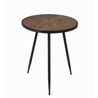 Delicieux Privilege Large Round Accent Table (wood Top, Metal Legs)