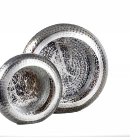 Privilege 2pc Round Silver Candle Holders