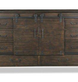Pine Hill Sliding Drawer Dresser