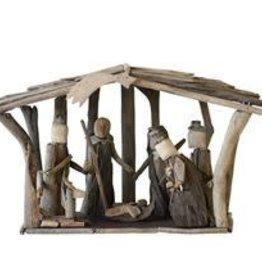 "Driftwood Nativity Scene--11"""