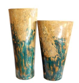 Red Label Home Conic Planters/Cobalt Turquoise/Set of 2