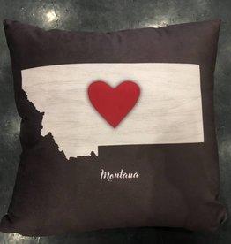 Demdaco Montana Heart Pillow