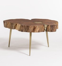 Vail Molten Coffee Table--Natural Finish/Bronze Fill