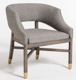 Wyatt Dining Chair--Tweed/Beechwood