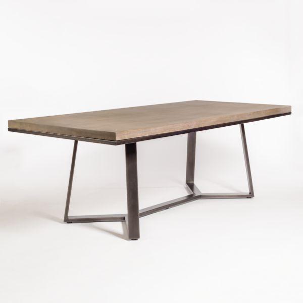 "Sloan 84"" Dining Table--Stone Ash/Gunmetal"