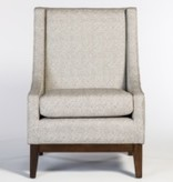 Houston Occasional Chair--Obsidian/Chestnut