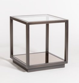 Warren End Table--Gunmetal Finish
