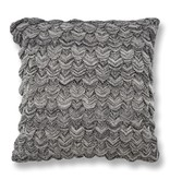 Black and White Knit Pillow