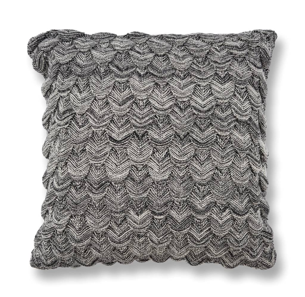 Black and White Knit Pillow 20x20