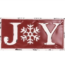 "10.5""h Metal Joy Sign"