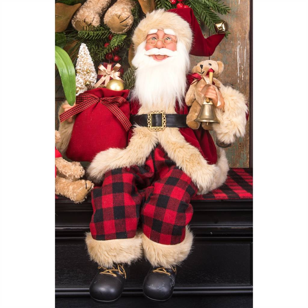 "24""h Santa Holding Gift Bag"