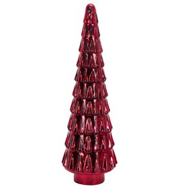 "18"" Red Glass Christmas Tree"