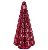 "13"" Red Glass Christmas Tree"