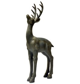 "32.75""h Resin Gray Standing Deer"