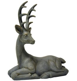 "19.25""h Resin Gray Laying Deer"