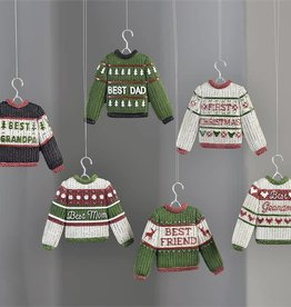 Christmas Sweater Design Ornaments