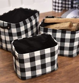 Plaid Storage Baskets, Set/3