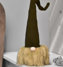 Gnome Head W/Tall Green Hat