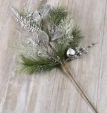 Silver Christmas Floral Spray