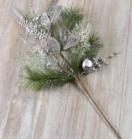 Silver Christmas Floral Spray