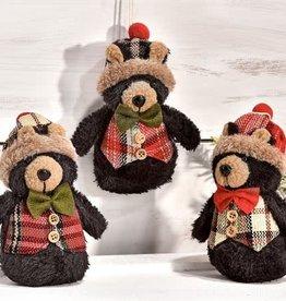 Black Bear Ornament, 3 asst--choice of one