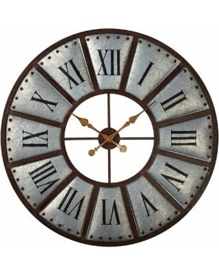 Galvanized Roman Numeral Wall Clock