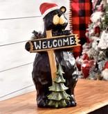 Black Bear Welcome Figurine