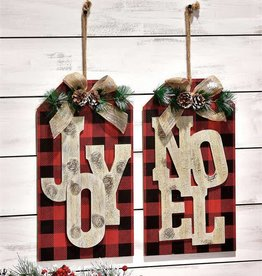 Gift Tag Design Wall Plaques, 2 Asst.