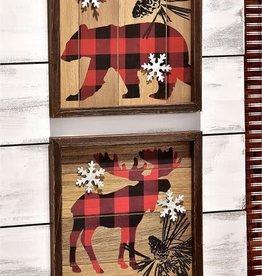 Wood Plank Wall Plaque--BEAR