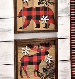 Wood Plank Wall Plaque--MOOSE