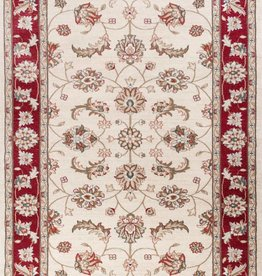 "Avalon Ivory/Red Mahal 5'3"" x 7'7"""