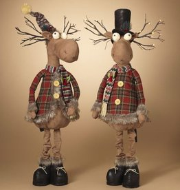 "42""H B/O Lighted Plush Holiday Standing Moose, 2 Assorted--choice of one"