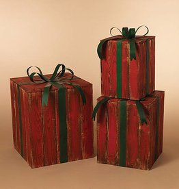 Nesting Red Gift Boxes--Set/3