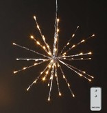 "Raz Imports Champagne Lighted Starburst W/Remote--18"""