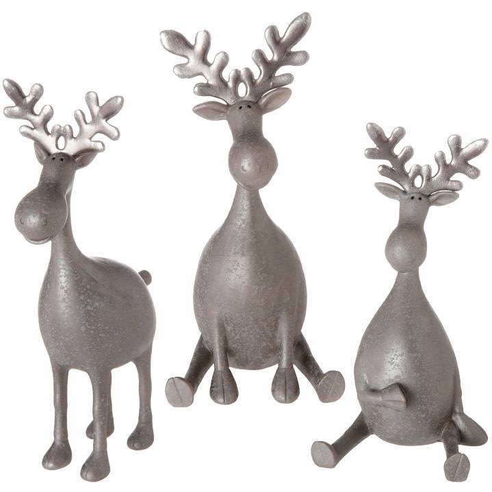 Raz Imports Silver Moose 3/asst--choice of one
