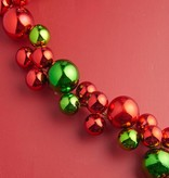 Raz Imports Red & Green Ball Garland--4'