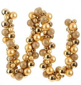 Raz Imports Gold Ball Garland--6'
