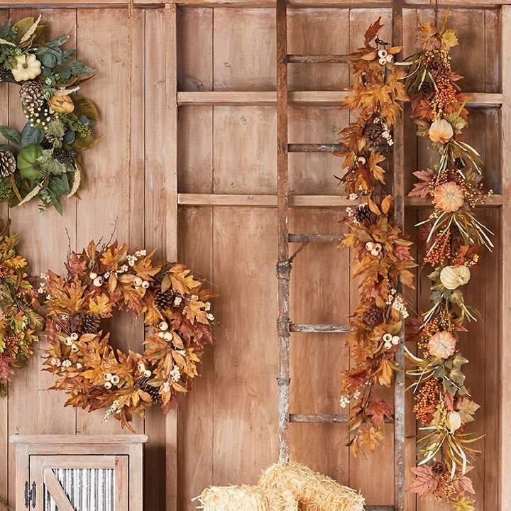 Raz Imports Fall Garland W/Pumpkins--6'