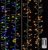 Raz Imports Lighted Cluster Garland W/Remote--10'