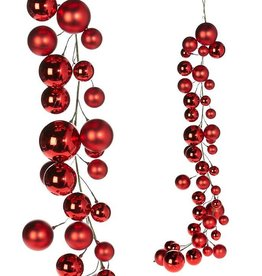 Raz Imports Red Ball Garland--4'