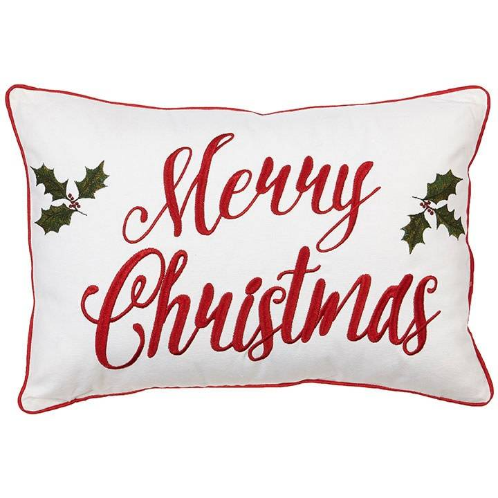 raz imports merry christmas pillow wholly leaves