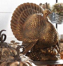 "Raz Imports Gold Turkey--17"""