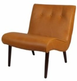 Alexis Bonded Leather Chair Wenge Legs--Vintage Caramel