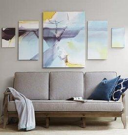 Blue Skies Ahead Printed Canvas with Gel Coat 5pcs Set
