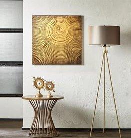Wood Grain Metallic Canvas